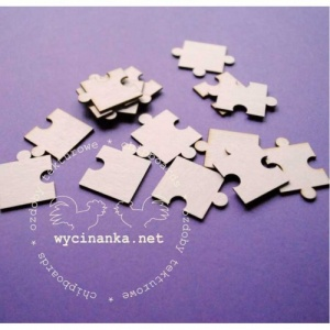 Wycinanka Chipboard - Puzzle Pieces - Small