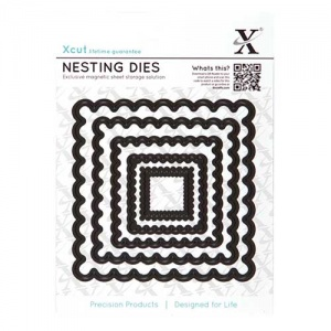 Xcut Nesting Dies - Scalloped Square