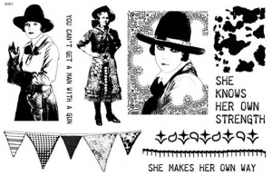 Artistic Outpost Stamp Set - Cowgirl Strength