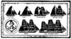 B Line Designs Unmounted Stamp - Ship Chart