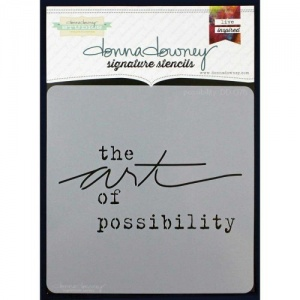 Donna Downey Signature Series Stencil - Possibility - DD078