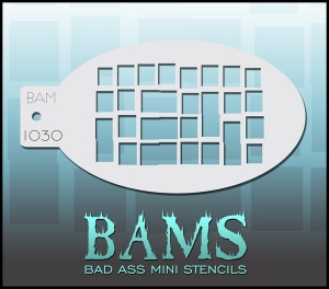 iStencils Bad Ass Mini Stencil - bam 1030