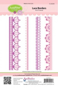JustRite Cling Mounted Stamp Set - Lace Borders