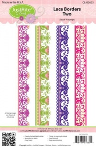 JustRite Cling Mounted Stamp Set - Lace Borders Two