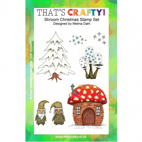 Christmas Stamps.That S Crafty Clear Stamp Set Shroom Christmas