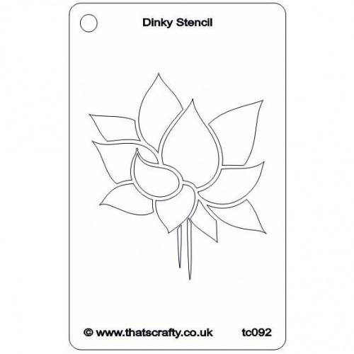 Thats crafty dinky stencil lotus flower tc092 thats crafty dinky stencil lotus flower tc092 ccuart Choice Image