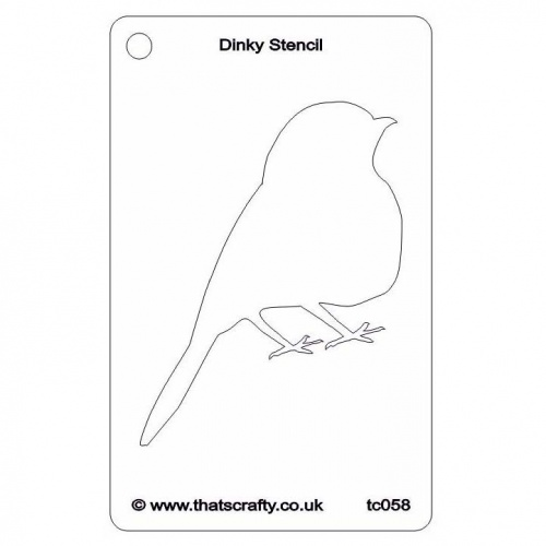 that s crafty dinky stencil robin silhouette tc058 thats crafty