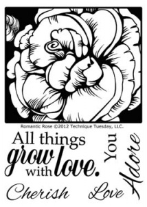 Technique Tuesday Clear Stamp Set - Romantic Rose