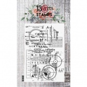 13 Arts A6 Clear Stamp - Blueprint