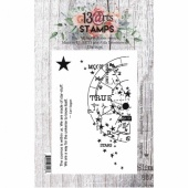 13 Arts A7 Clear Stamp Set - Stardust