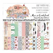13 Arts 6ins x 6ins Paper Pack - Alice in Candyland