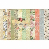 13 Arts 12ins x 12ins Paper Pack - In Bloom