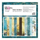 13 Arts 12ins x 12ins Paper Pack - Travel the World