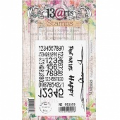 13 Arts Clear Stamp Set - Numbers