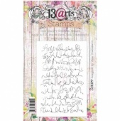 13 Arts Clear Stamp Set - Script