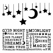 13 Arts Stencil - Under the Stars - Hanging Moon