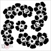 13 Arts Stencil - Rose Fields - Flowers #2