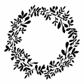 13 Arts Stencil - Vintage Summer - Vintage Wreath