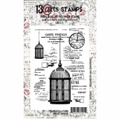 13 Arts A6 Clear Stamp - The Cage