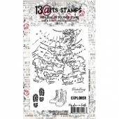 13 Arts A6 Clear Stamp - Travel Map