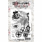 13 Arts A6 Clear Stamp - Victoriana