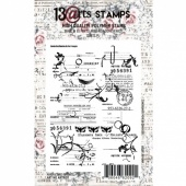 13 Arts A7 Clear Stamp - Vintage Letter