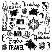 13 Arts Chipboard - Travel the World