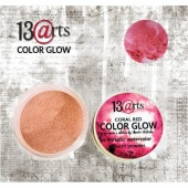 13 Arts Metallic Color Glow - Coral Red