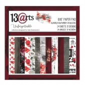 13 Arts 6ins x 6ins Paper Pack - Unforgettable
