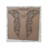 A Vintage Girl Chipboard Wicked Wings - Small