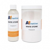 A1 Creatives Resin - White Stone