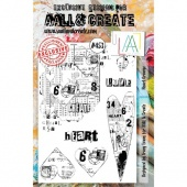 AALL & Create A5 Stamp Set #453 - Heart Grunge