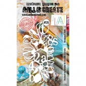 AALL & Create A6 Stencil #128 - Hexagons & Buds