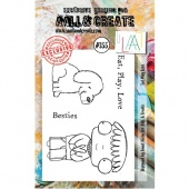 AALL and Create A7 Stamp Set #355 - Eat Love Play