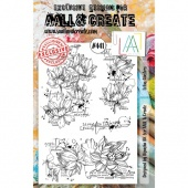 AALL and Create Stamp Set #441 - Lotus Clusters