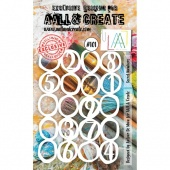 AALL & Create A6 Stencil #101 - Secret Numbers