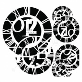 AB Studio Stencil - ID214 - Clocks