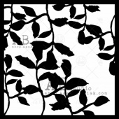 AB Studio Stencil - ID208 - Leaves ll