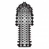 Artistcellar Stencil - Cathedral Plans Series - Reims Plan