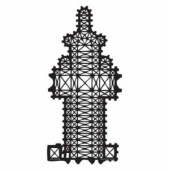 Artistcellar Stencil - Cathedral Plans Series - Rouen Plan