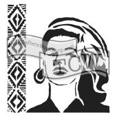 Crafter's Workshop Stencil - Mini Aztec Queen - TCW647