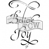 Crafter's Workshop Journaling Stencil - Believe