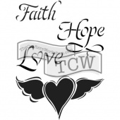 Crafter's Workshop Journaling Stencil - Faith Hope and Love