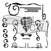 Crafter's Workshop Stencil - Mini Heart Key - TCW642