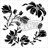Crafter's Workshop Stencil - Magnolia Blossoms - TCW815S