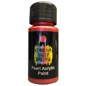 Creative Muse Designs Pearl Paint - Lava Red