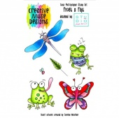 Creative Muse Designs A6 Clear Stamp Set - Frogs n Flys