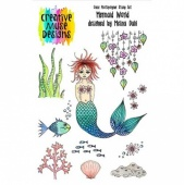 Creative Muse Designs Clear Stamp Set - Mermaid World
