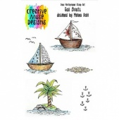Creative Muse Designs Clear Stamp Set - Sail Boats