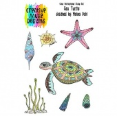 Creative Muse Designs Clear Stamp Set - Sea Turtle